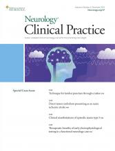 Neurology: Clinical Practice: 9 (6)